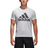 Adidas Men Sports TShirts Training Running Workout Tee Fitness D2M Logo BK0936