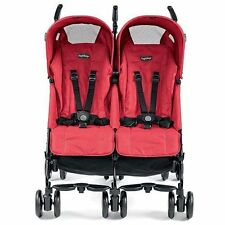 Peg Perego 2016 Pliko Mini Twin Double Stroller in Mod Red Brand New!!