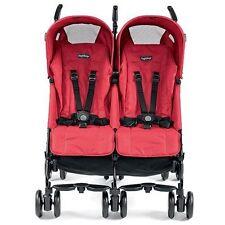 Peg Perego 2016 Pliko Mini Twin Double Stroller in Mod Red Brand New!!