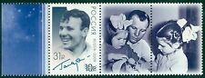 RUSSIA 2016, 55th Anniv of First Human Flight, Gagarin, Overprint, Labels!!, MNH