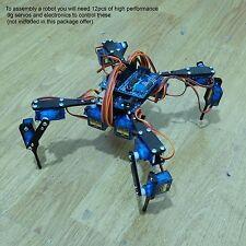 """Four Feet Robot 4-Legged Hexapod3 Mini """"Spider"""" Arduino DIY Robot KIT NO SERVOS"""
