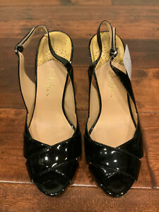 Cole Haan Black Patent Leather Slingback Heels, Size 6