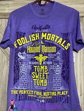 Disney Haunted Mansion Foolish Mortals 2 Sided Mens Unisex Shirt