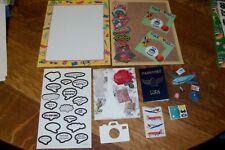 TRAVEL SCRAPBOOKING PAPER/ STICKERS/ PASSPORT/ AIRPLANE/ VACATION/ SUITCASE
