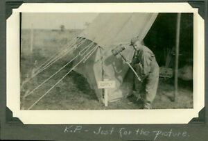 WWII 1943 US Army Pine Camp, NY maneuvers Photo KP, Supply tent
