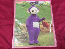 TELETUBBIES WOOD FRAME TRAY PUZZLE PLAYSKOOL WOODEN VINTAGE PURPLE TINKY WINKY