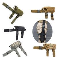 Leg Gun Pistol Holster Tactical Wrap-around Puttee Thigh Pouch Holder