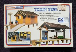 Life-Like Train Station HO Scale Building Kit Brand new Still sealed #1347 t298