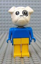 Légo x581c04 Fabuland Personnage Figure Chien Bulldog Boris Facteur du 3603