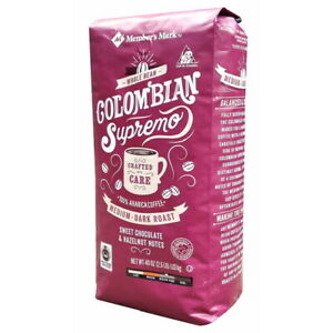 Members Mark Colombian Supremo Fresh Aroma Whole Bean Coffee (40 OZ) GREAT DEAL!