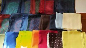 Job Lot 120+ pocket silk scarf . Made In Italy.