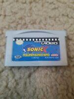 Sonic X: A Super Sonic Hero (Nintendo Game Boy Advance Video, GBA) Cart Only