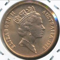 Australia, 1988 Two Cent, 2c, Elizabeth II - Uncirculated