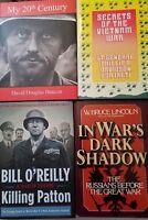 HISTORY OF THE WARS Books Military Army Marines Vietnam Korean  LOT of 4      1b