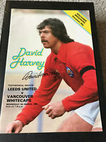PROOF DAVID HARVEY SIGNED TESTIMONIAL PROGRAMME LEEDS UNITED COA AUTOGRAPH UTD 4