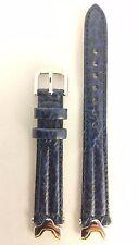 ORIGINAL SEIKO SQ50 SWIM SAFE DARK BLUE LEATHER STRAP 7N89 F150 Watch Band