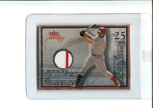 Jim Thome /173 CUBS GAME USED JERSEY PATCH 2 COLOR 2004 04 FLEER SWEET SIGS