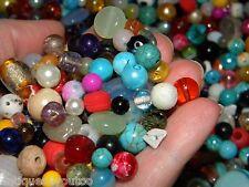 *NEW 4oz MIXED 6-15mm Mixed Colors & Shapes loose Beads lot NO JUNK