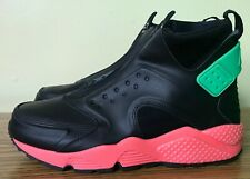 0f85eb81b57c Size 9 Nike Women AIR HUARACHE Run MID Shoes 807313 003 Black Green