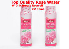 ROSE BULGARIA WITH ROSE OIL PURE NATURAL BULGARIAN ROSE WATER 2x100 ml.