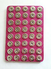 "Pink Glitter 40 Snap Base Holder Keeper 18mm 20mm 6""x8""Jewelry Organizer Chunk"