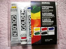 Golden 6 tubes - 22ml Acrylic Paints