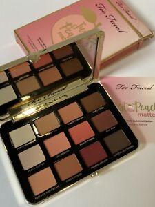 Too Faced Just Peachy Mattes Velvet Eye Shadow Palette w/ Peach & Sweet Fig Milk