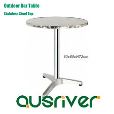 Dia60cm Outdoor Aluminum Bar Table Stainless Steel Top Garden Cafe Pub Round