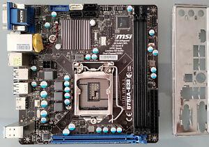 MSI B75IA-E33 (MS-7733) Socket LGA1155 DDR3 Mini-ITX Motherboard + I/O Shield