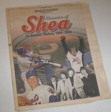 "NY Mets ""Memories of Shea Stadium 1964-2008"" Special Daily News Pull-Out 40 pgs"