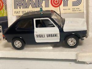 Bburago Martoys Fiat 127 Vigili Urbani mint box 1/24