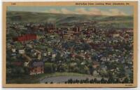 AERIAL VIEW LOOKING WEST~JOHNSTOWN,PENNSYLVANIA~LINEN  POSTCARD