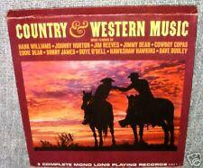 "COUNTRY & WESTERN MUSIC,The 33rpm LP 12"" album record vinyl = 3 SET"