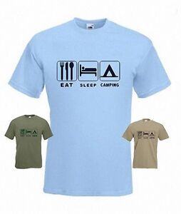 Eat Sleep Camping Funny T-Shirt in any size