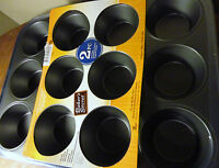 BAKER'S SECRETE 2 PIECE NONSTICK TWIN PACK 12 CUP MUFFIN PAN NEW