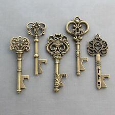 50 Pcs Antiqued Brass Skeleton Keys Bottle Openers Mix Wedding Favor Decoration