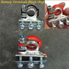Leisure Battery Terminals Connectors Clamps Car Van Caravan Motorhome Red Black