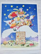 Mary Engelbreit Poster Print Old Mother Goose Flying Over Village Starry Sky New