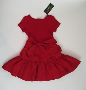 NEW Ralph Lauren Short Sleeve Tiered Holiday Stretch Party Dress 2/2t 4/4t $65