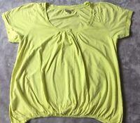 Cotton Traders Ladies Yellow Tshirt size 22 24 Plus Sized sherbet lemon elastic