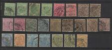 INDE ANGLAISE 1911 24 timbres oblitérés /T2332