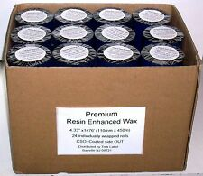"24 Rolls 4.33"" x 1476' 110mm x 450m Thermal Transfer Ribbons for Zebra printers"