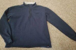 RUGGED BEAR Navy Blue Half Zip Heavier Weight Pullover Top Boys Size 16