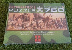 Haruo Takino Dinosaurs Eurographics Puzzle 750 Piece Brand New & Factory Sealed