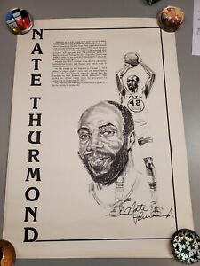 "1978 Nate Thurmond Signed Golden State Warriors Retirement  Poster, 18"" X 25"","
