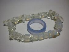 cristalloterapia BRACCIALE OPALITE + ANELLO braccialetto cristallo fatto a mano