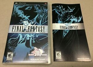 PlayStation PSP Final Fantasy 20th Anniversary Case & Manual Only  A++ Condition