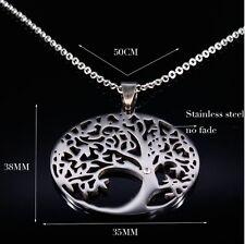 Halskette collier Edelstahl Baum des Lebens Edelstahl Tree of Life necklace 62