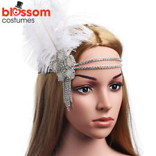 K365 1920s Headband Vintage Bridal Gatsby 20s Flapper Feather Gangster Headpiece
