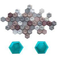 Hexagon Geometric Wall Brick Molds Concrete Background Decor Silicone Tile Mould